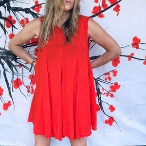 Ecote sheer gauzy red tunic/dress L